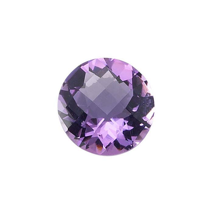 Amethyst Round Checkerboard Faceted Stones, AA-Grade