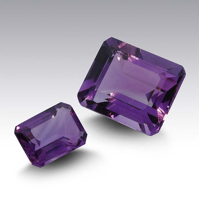 Royal Amethyst Octagon Faceted Stones, AAA-Grade