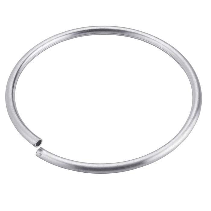 Sterling Silver Round Flex Tube Bracelet