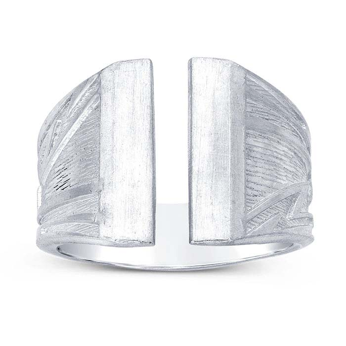 Sterling Silver Southwestern Flat-End Ring Shank