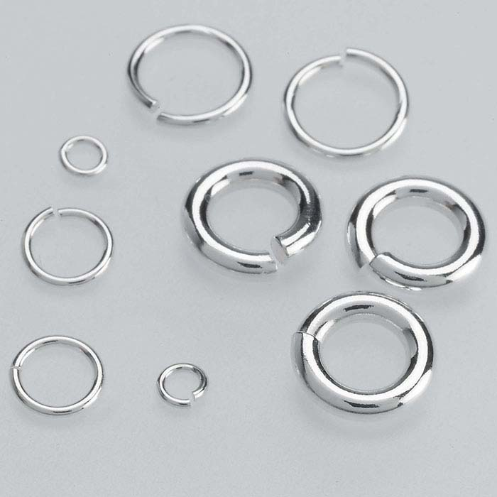 1/10 Silver-Filled Round Jump Rings
