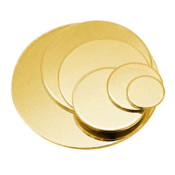 14/20 Yellow Gold-Filled Discs, 1/2-Hard