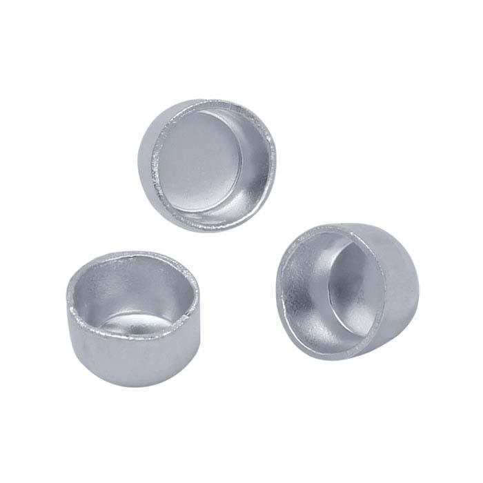 Flat Bottom Stone Cabochon Gem Sterling Silver Round Filigree Bezel Cup 16mm