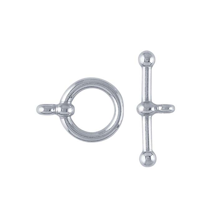 Sterling Silver Ball-End Toggle Clasps