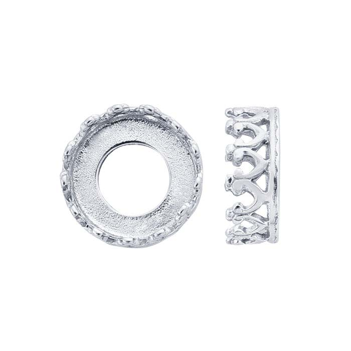 Sterling Silver Round Gallery Wire Bezel Cup Settings