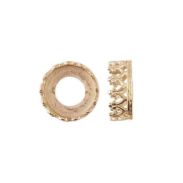 Bronze 8mm Round Gallery Wire Bezel Cup Setting