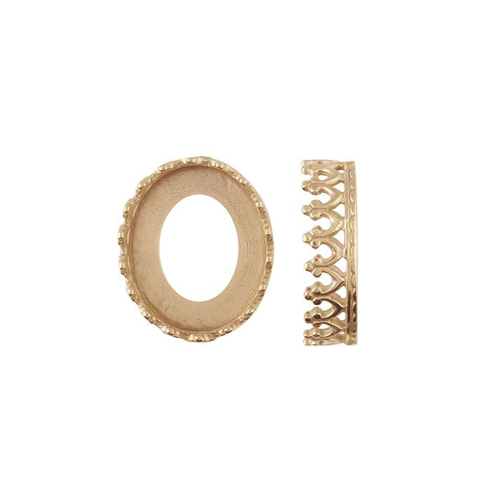 Bronze Gallery Wire Bezel Cup Setting