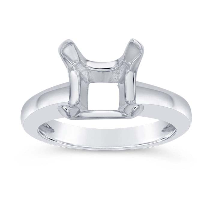Sterling Silver ReadySet™ Cushion Ring Mountings