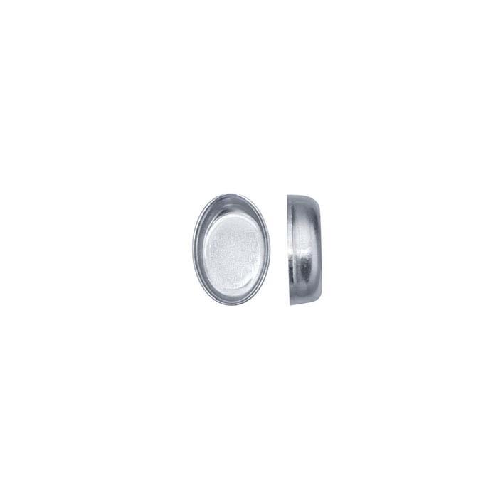 .999 Fine Silver Oval Bezel Cup Settings