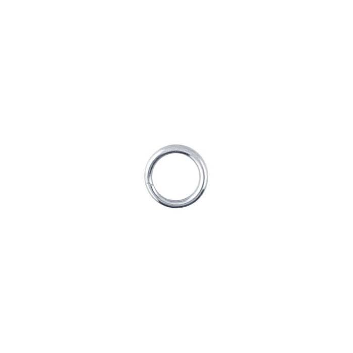 14K White Gold Round Split Rings