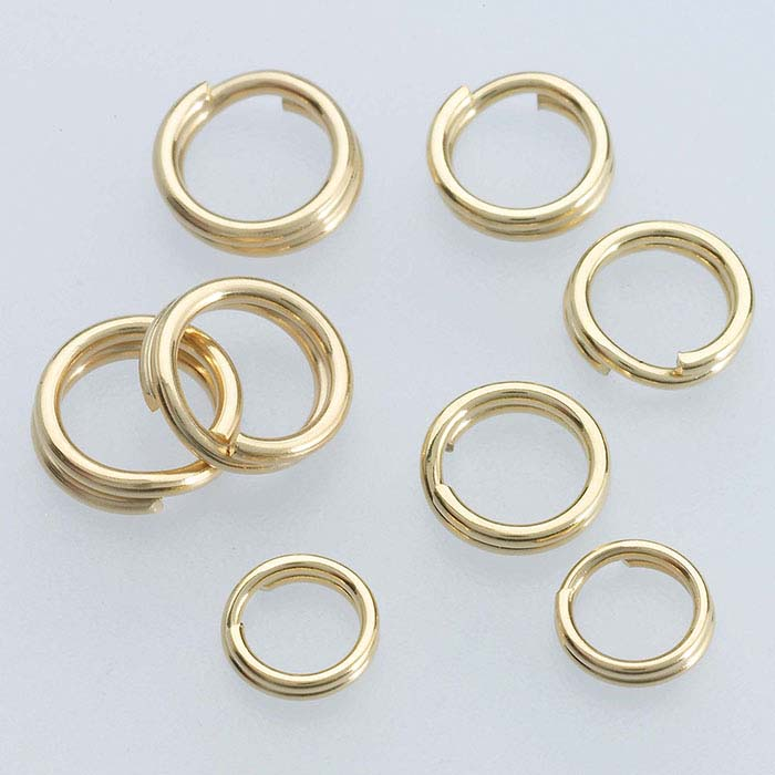 14/20 Yellow Gold-Filled Lightweight Round Split Rings