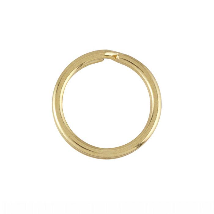Brass Yellow Gold-Plated Split Key Ring