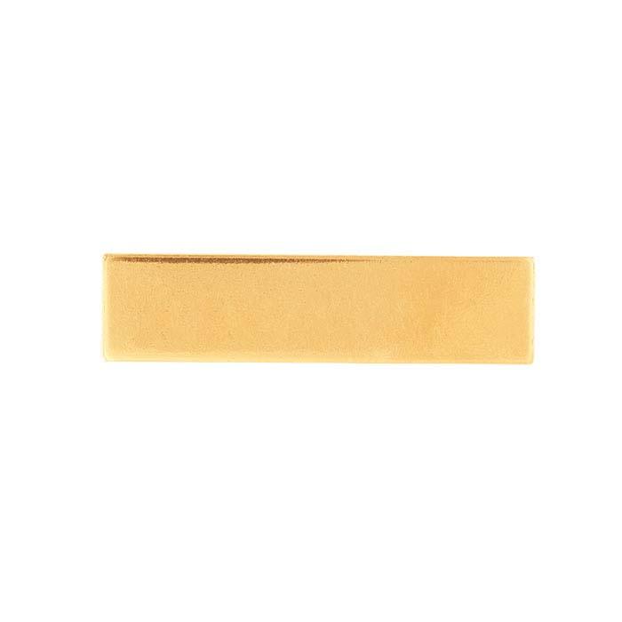 14/20 Yellow Gold-Filled Rectangle Stampings, 20-Ga.