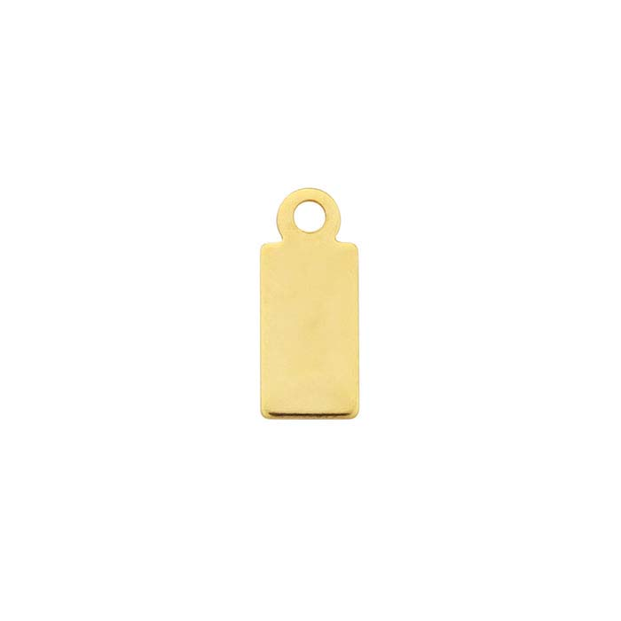 14/20 Yellow Gold-Filled 11.7 x 4.9mm Rectangle Tags, 1/2-Hard