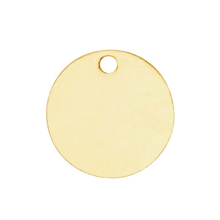 14K Yellow Gold 8.9mm Round Tag, 26-Ga., Soft