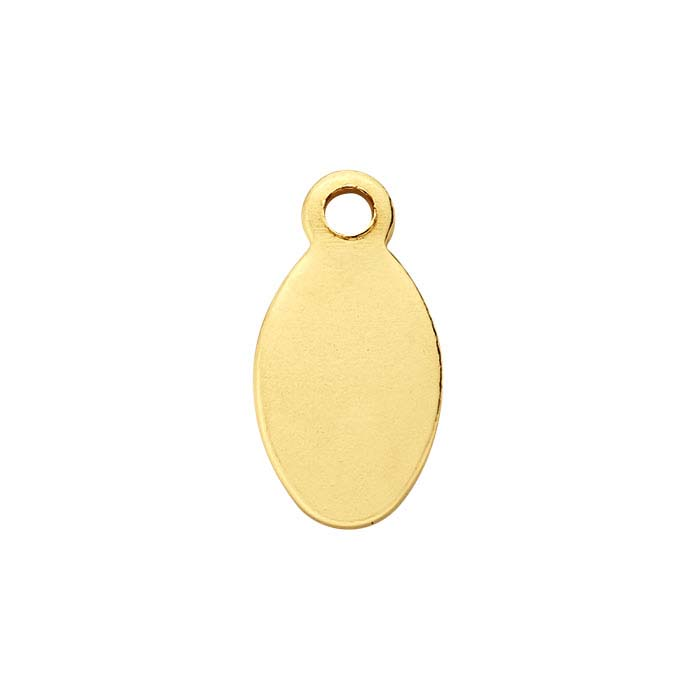 14/20 Yellow Gold-Filled 8.9 x 4.7mm Oval Tags