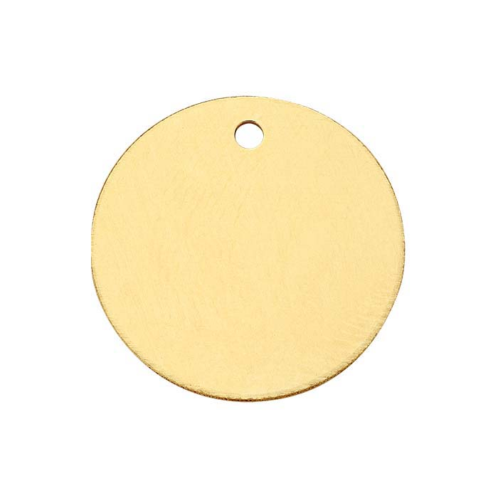 14/20 Yellow Gold-Filled Round Disc Charm