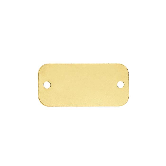 14/20 Yellow Gold-Filled Rounded Rectangle Link Component