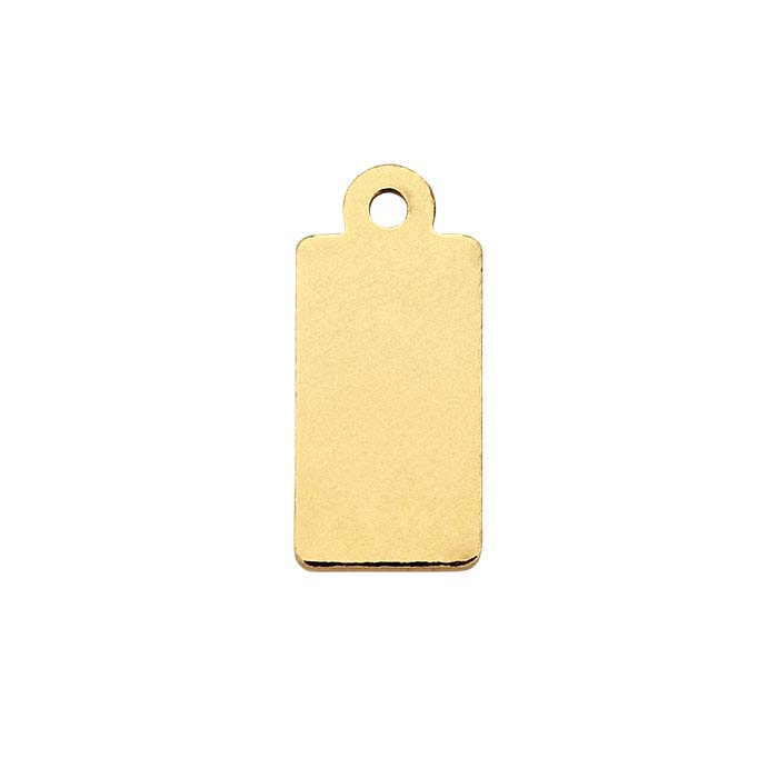 14/20 Yellow Gold-Filled 13.9 x 6.2mm Rectangle Tag, 27-Ga., 1/2-Hard
