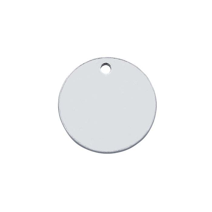 Sterling Silver 11mm Round Tags