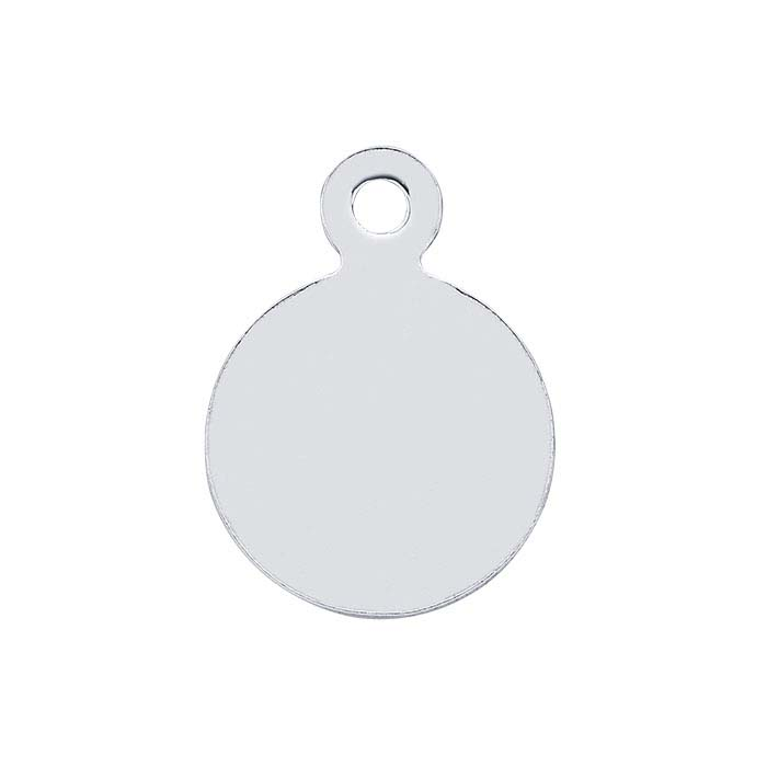 Sterling Silver 9.9 x 7.3mm Round Tags