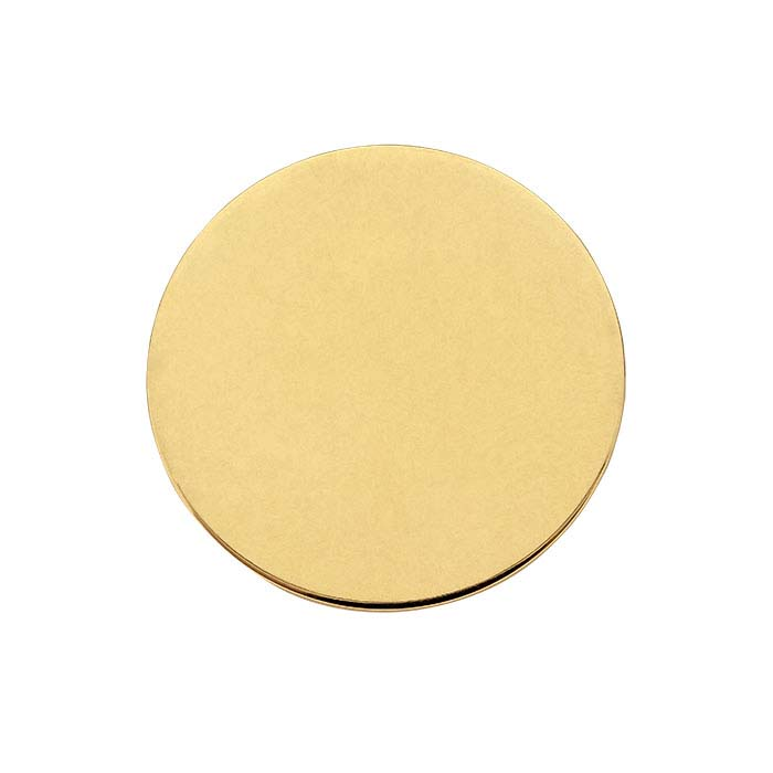 14K Yellow Gold 19.1mm Disc, 22-Ga., Soft