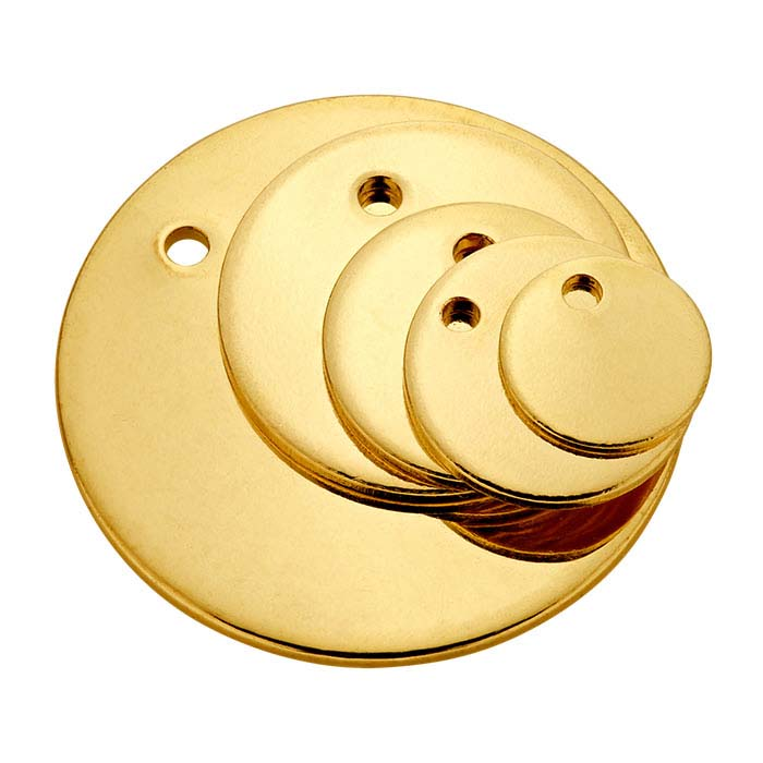 14/20 Yellow Gold-Filled 8.9mm Round Tag, 20-Ga., Soft