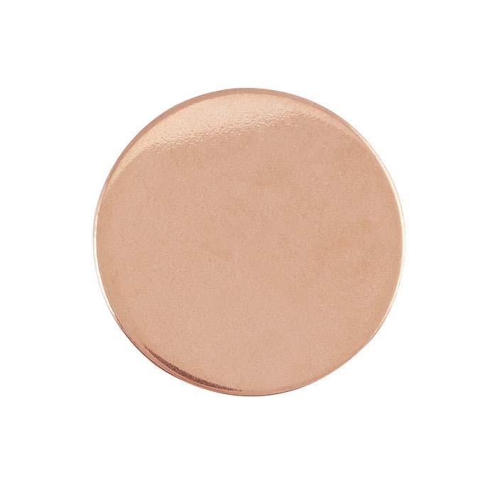 14/20 Rose Gold-Filled Discs, Soft