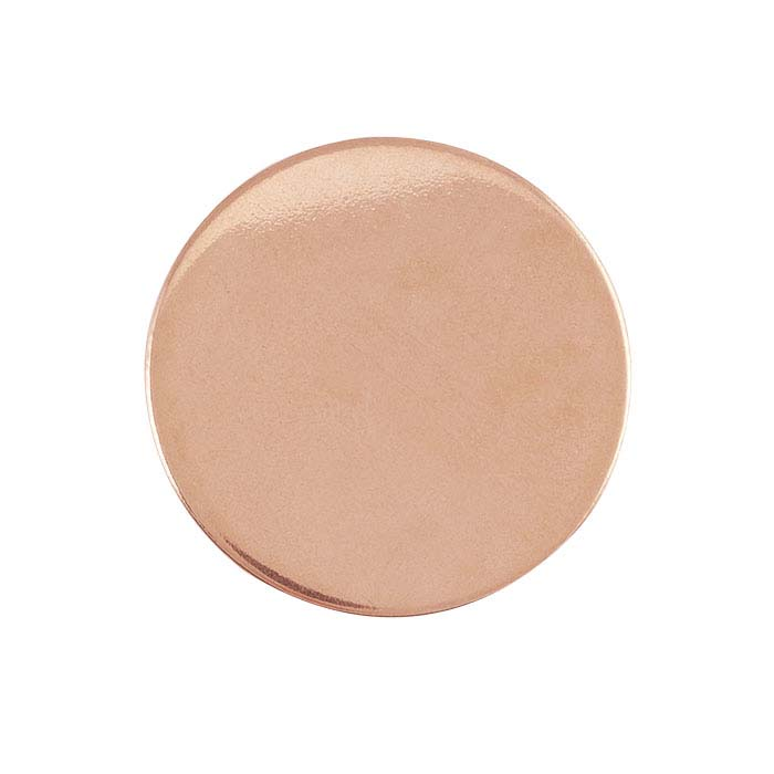 Rose Gold-Filled Disc Stamping