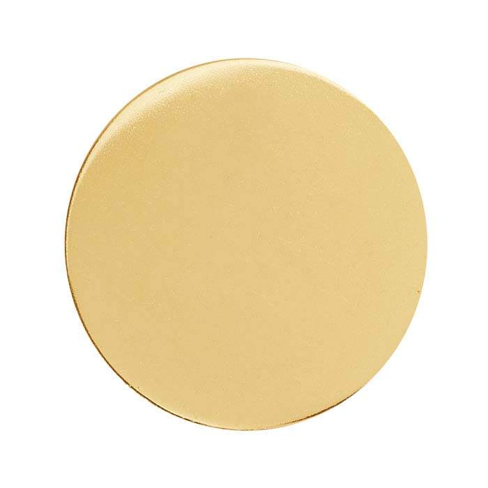 14/20 Yellow Gold-Filled Discs, Soft