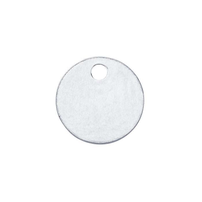 Sterling Silver 6.4mm Round Tag, 24-Ga., Soft