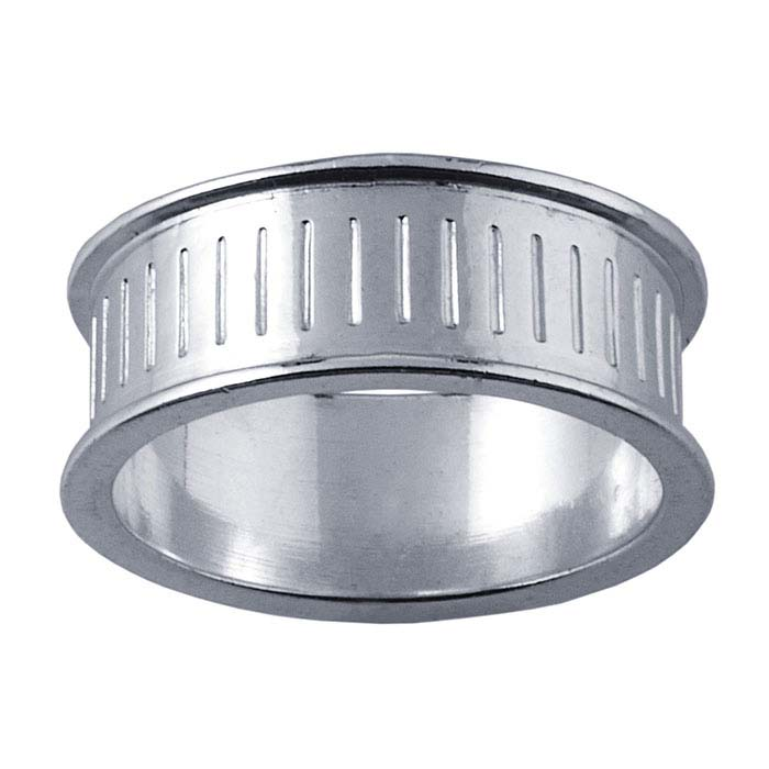 Silver 8mm RingCore™ Textured Band, with Channel