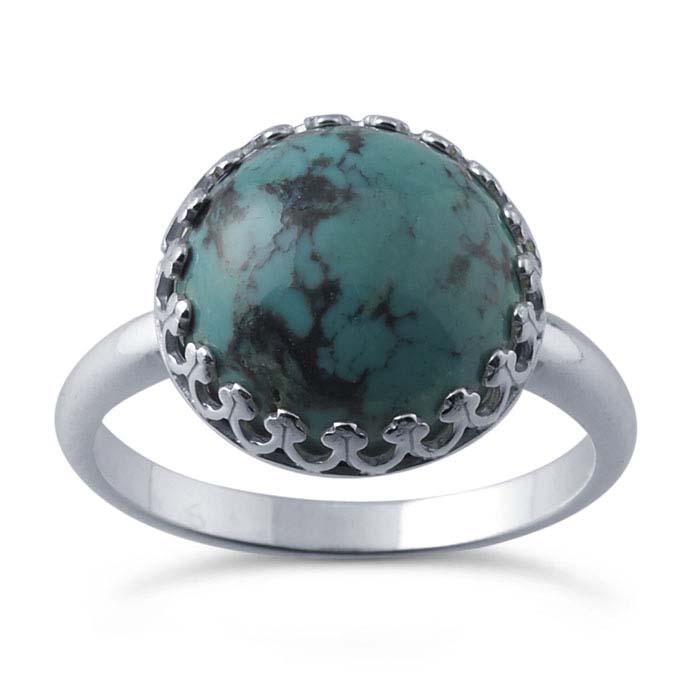 Argentium® Silver Gallery Wire 12mm Round Bezel Ring Mounting