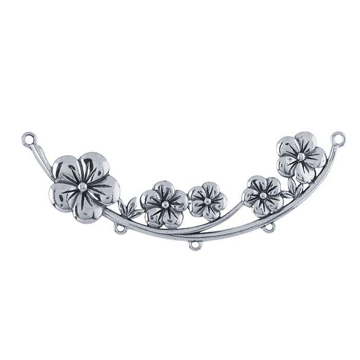 Sterling Silver Floral Festoon Pendant