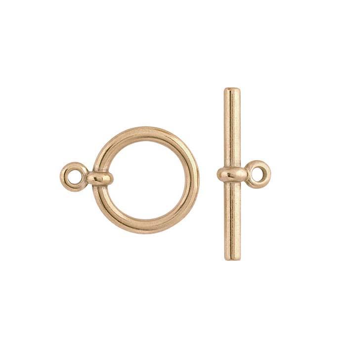 Bronze Flat-End Toggle Clasp Set
