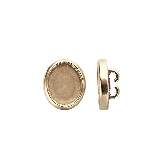 Bronze 10 x 8mm Oval Component Mounting