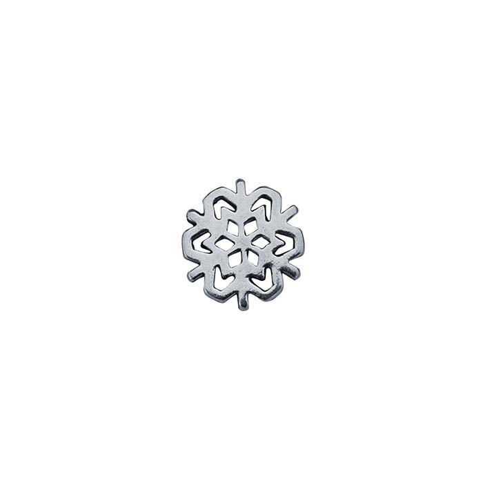 Sterling Silver Snowflake Component for Floating Glass Lockets
