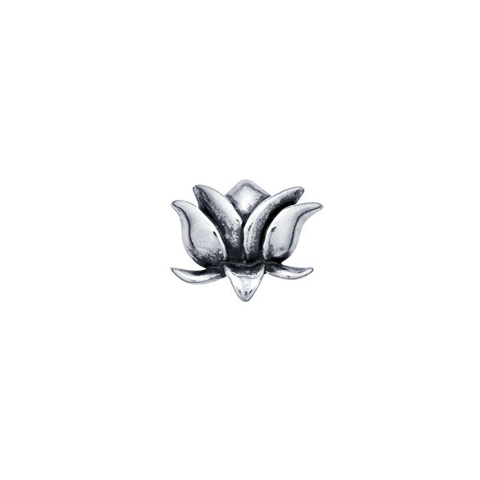 Sterling Silver Lotus Blossom Component for Floating Glass Lockets