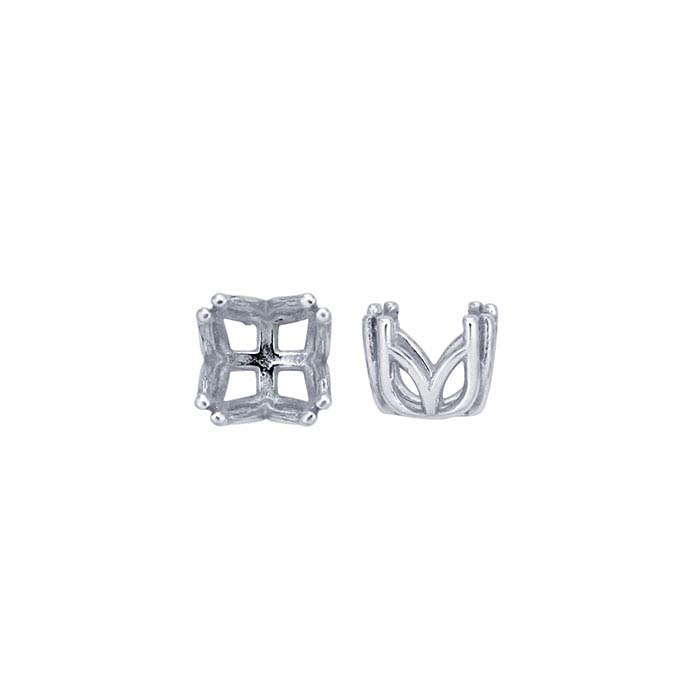 Sterling Silver Round Pre-Notched Double-Prong Settings