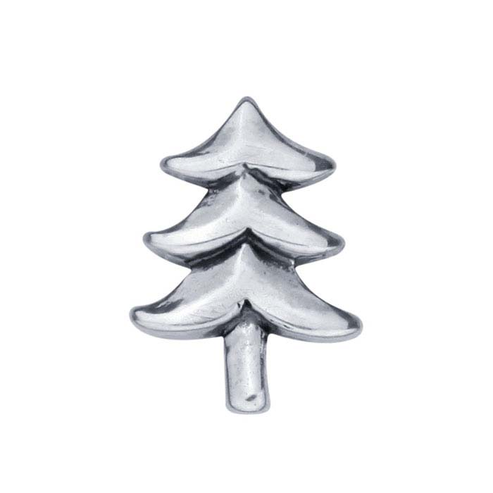 Sterling Silver Christmas Tree Component for Floating Glass Lockets