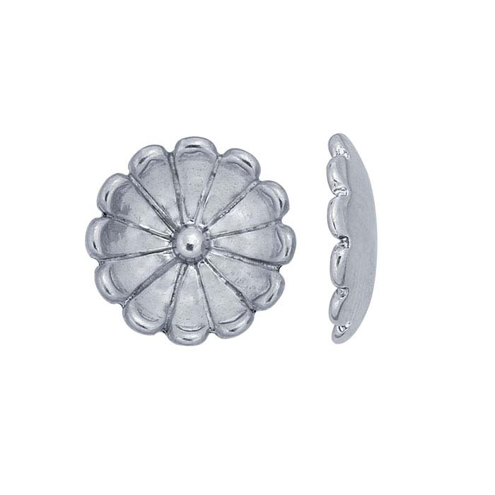 Sterling Silver Cupped Flower Component