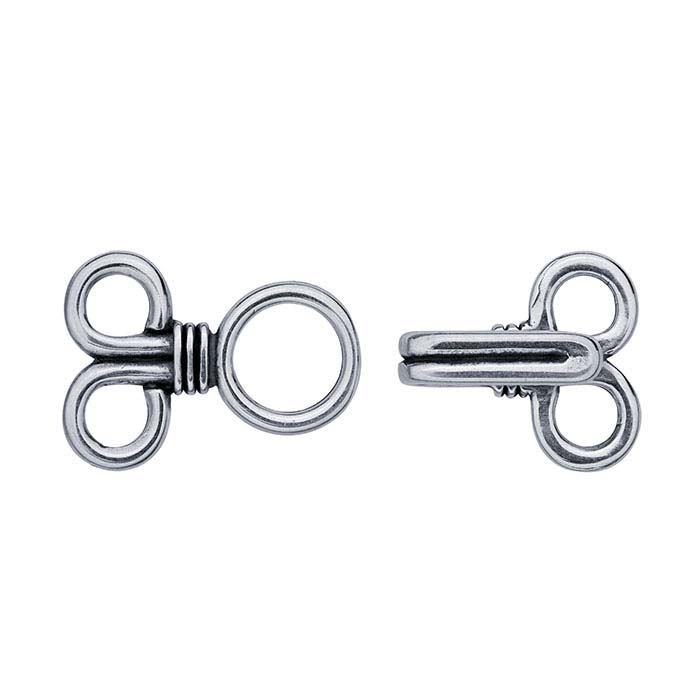 Sterling Silver Hook & Eye Clasp