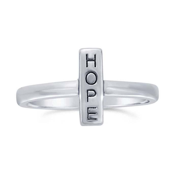 """Sterling Silver """"HOPE"""" Rings"""