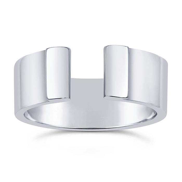Sterling Silver Wide Double Folded-End Rings