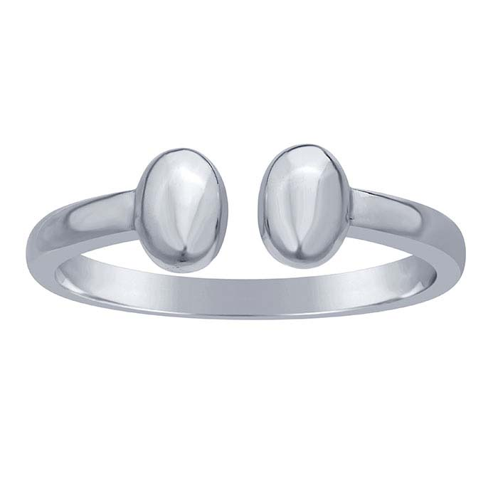 Sterling Silver Double Oval Rings