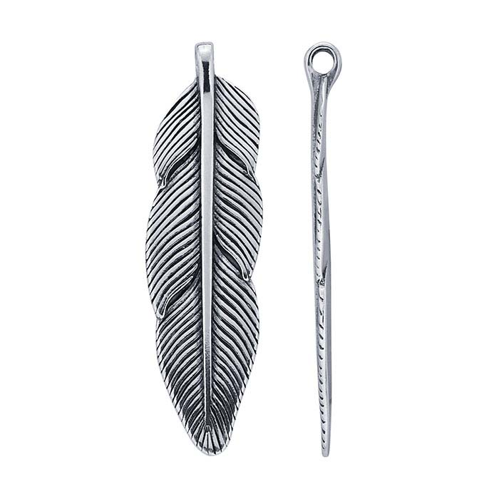 Sterling Silver Feather Components