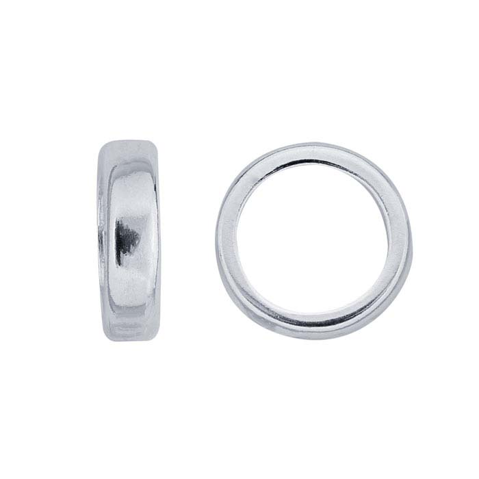 Sterling Silver 2.4mm Roundel Bead