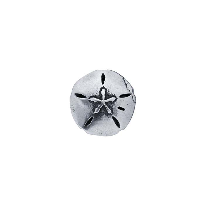 Sterling Silver Sand Dollar Component for Floating Glass Lockets