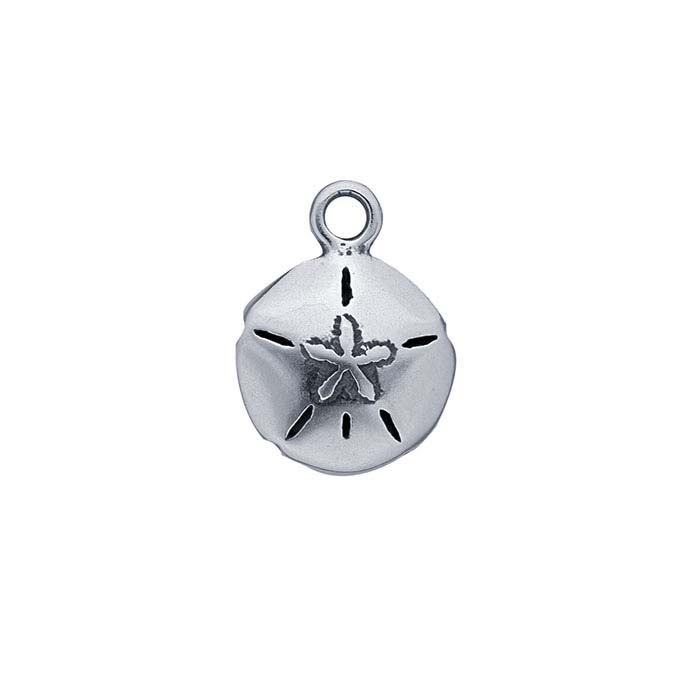 Sterling Silver Sand Dollar Charm with Ring