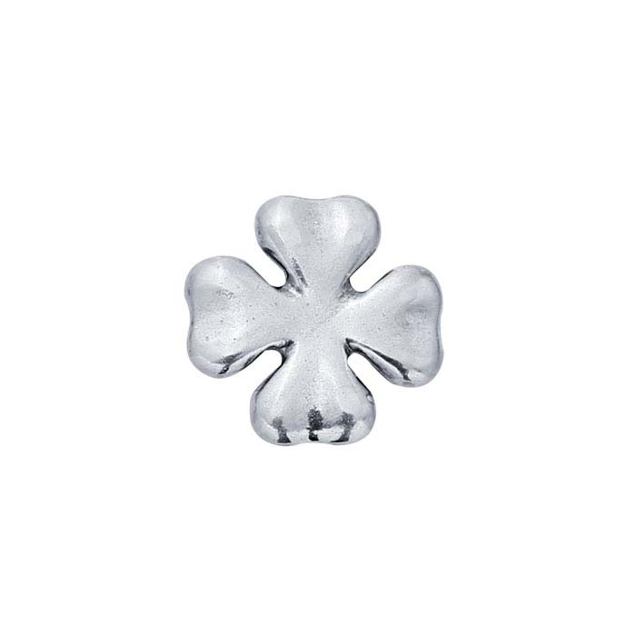 Sterling Silver Clover Component for Floating Glass Lockets
